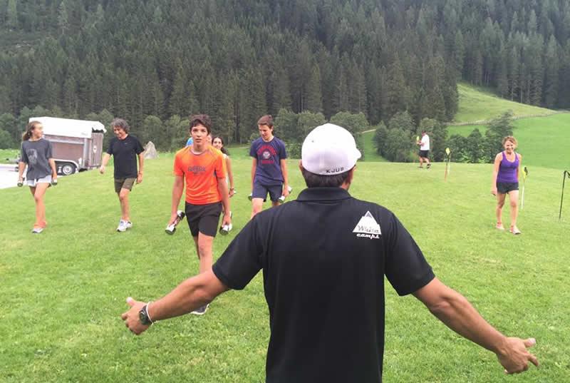 entrenamiento para esqui en Austria